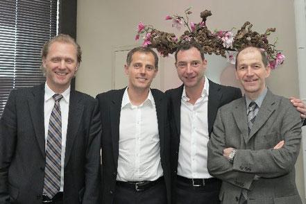Ztm. Marko Bähr, Ztm. Udo Plaster, Oliver Brix, Ztm. Patrick Rutten (v.l.)