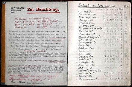Tagebuch Eidg. Schützenfest Fribourg 1934