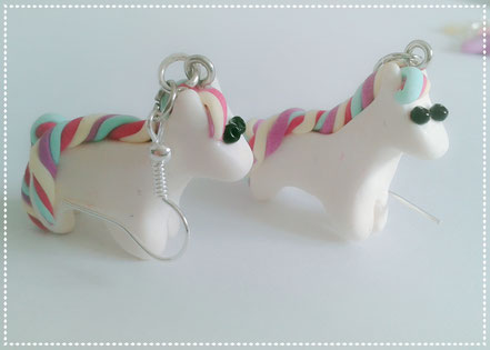 Kawaii Rainbow Pony Earrings