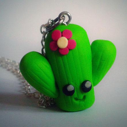 Kawaii Cactus Necklace.