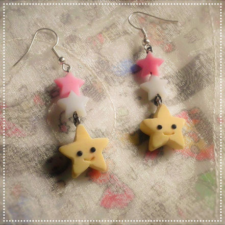Kawaii Star Earrings