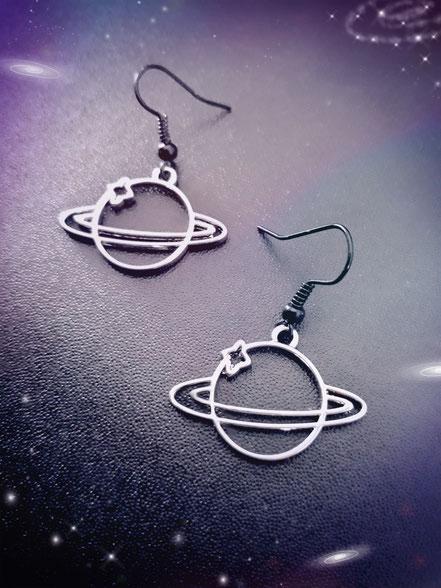 Planet Saturn Earrings