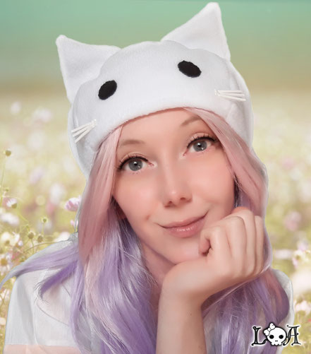 Kawaii Kitty Hat in White
