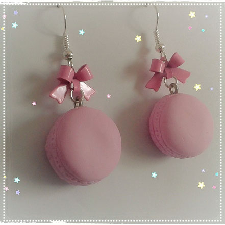 Macaron earrings Pastel Pink