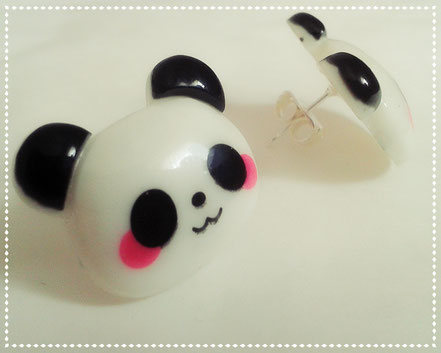 Kawaii Panda Stud Earrings