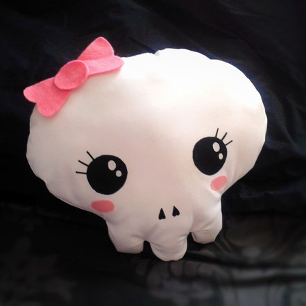 Creepy Cute Skull Cushion