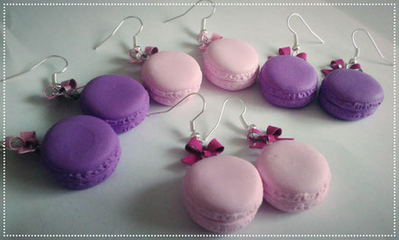 Sweet Lolita Pastel Macaron Earrings