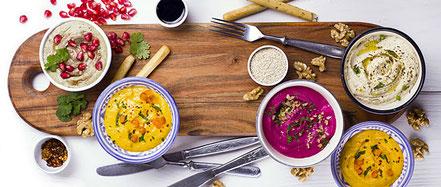 Inspiration zur Verwendung auch als Hummus und Dips