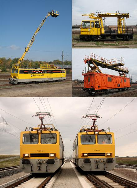 Hubarbeitsbühneninstandhaltungsfahrzeuge by Railsystems RP