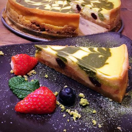 04 | Matcha-Käsekuchen mit süßen roten Bohnen