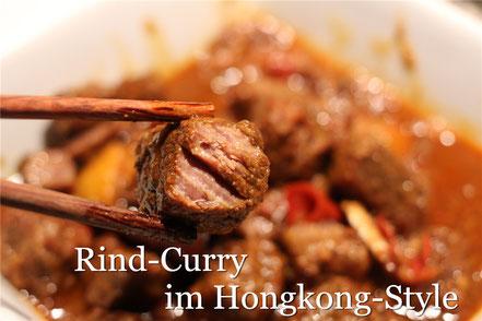 Rezept für unglaublich zartes und geschmacksintensives Rindfleisch-Curry im Hongkong-Style