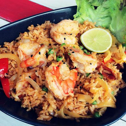 08 | Zitronig-scharfe Reispfanne mit Gemüse & Riesengarnelen