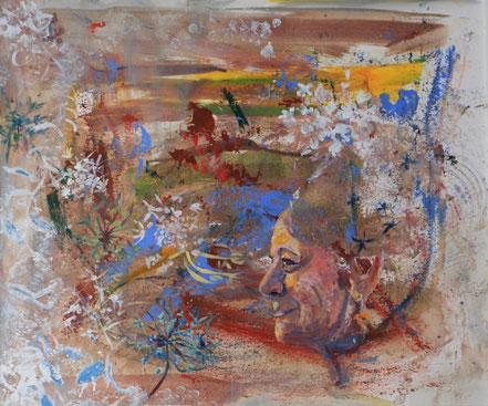 """Meine Welt"", 2017, Acryl, 50 x 60 cm"