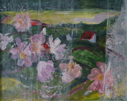 """""""Fensterblick"""", 2018, Acryl, 40 x 50 cm"""