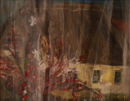 """""""Haus auf Hiddensee"""", 2019, Acryl, 50 x 60 cm"""
