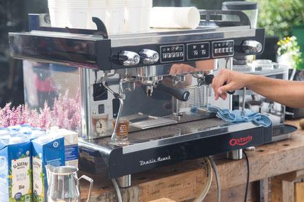 Professionelle Kaffeemaschine für das Event, Kaffeebar