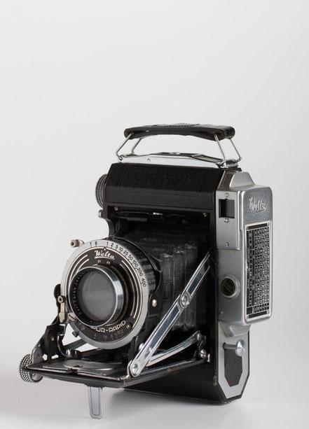 Weltur 6x6/4,5x6 mit Carl Zeiss Jena Tessar 1:2,8/50mm und Compur-Rapid
