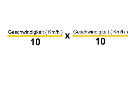 Formel von dem Bremsweg