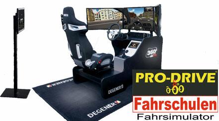 Fahrsimulator für die Führerscheinausbildung in der Pro Drive Fahrschule in Köln