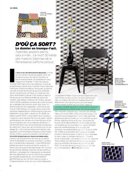 M le magazine du Monde parle de la collection Damier en novembre 2012