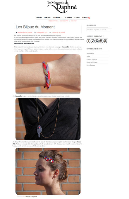 """""""Les bijoux du moment"""" sont sur le blog Les Mercredis de Daphné en septembre 2012"""