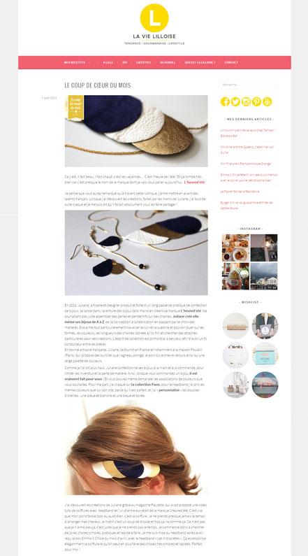 L'heure d'été est le coup de coeur du blog La vie Lilloise en août 2013