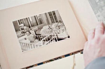Rückblick in die fünfziger Jahre: der Schlafsaal des Säuglingsheims