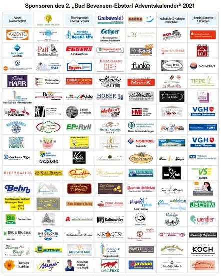 Unser herzlicher Dank an die obigen Unternehmen und Betriebe.
