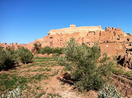 Eine Oasenstadt, Marokko, Oleander