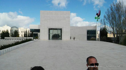 Het mausoleum voor Yasser Arafat in Ramallah, de tijdelijke hoofdstad van Palestina.