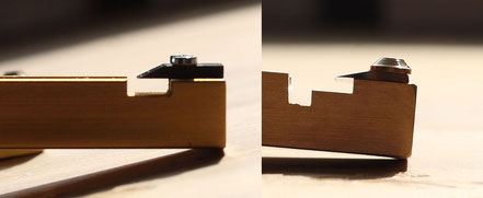 Messer-Ansicht von der Seite. Links: Reeds 'n Stuff; Rechts: Michel