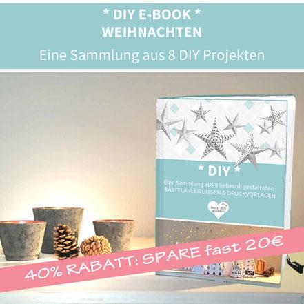 PRINTABLE Sammlung: 8 DIY PROJEKTE ZUM AUSDRUCKEN - WEIHNACHTEN: DIY Adventskalender, DIY Weihnachtskarten, DIY Weihnachtsdeko, DIY Grußbox, DIY Streichholzschachtel, DIY Geschenkpapier, DIY Gesechenkanhänger, DIY Teelichschirm, basteln, Papier, Origami