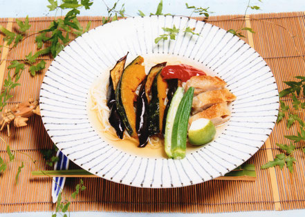 夏野菜のにゅう麺