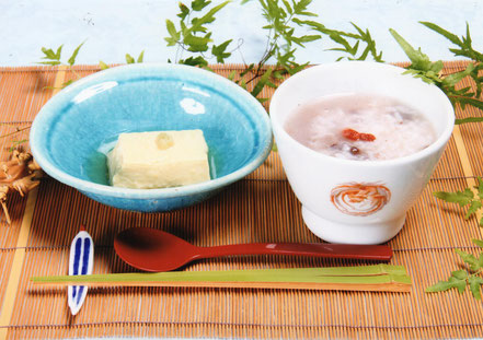 トウモロコシ豆腐 小豆粥