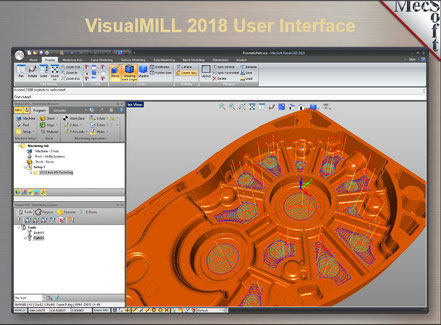 VisualMILL, VisualCAD/CAM 2019 software, MecSoft Europe, fräsen,