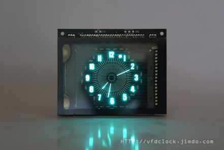 15  Jun USB Powered VFD48 Analog-style Unique Round VFD Clock
