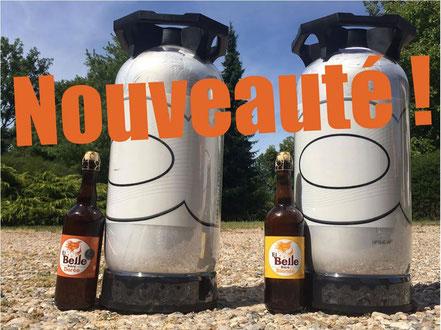 Fûts de 2O litres avec prêt de tireuse à bière professionnelle et gobelets