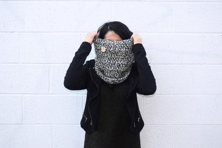 Balys tricot, Etsy Québec, Foulard fait main, tricot, achat local