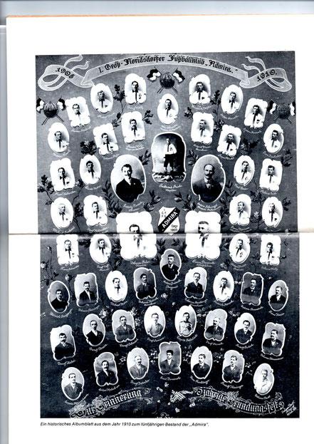 Anlässlich des fünfjährigen Jubiläums wurde dieses Albumblatt im Jahr 1910 angefertigt