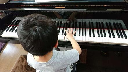 リトルスター・ピアノ・リトミック教室(in 前橋)子供ピアノレッスン風景