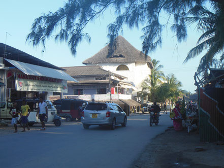 Main road at Mama Lucys Minimarket, here you turn left, down to the village