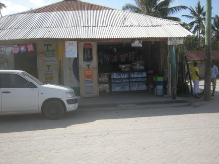 Francis Corner Shop, here you follow the main plastered road half left and then straight, direction to the beach