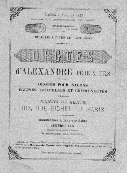 L'instrument sur son catalogue d'origine