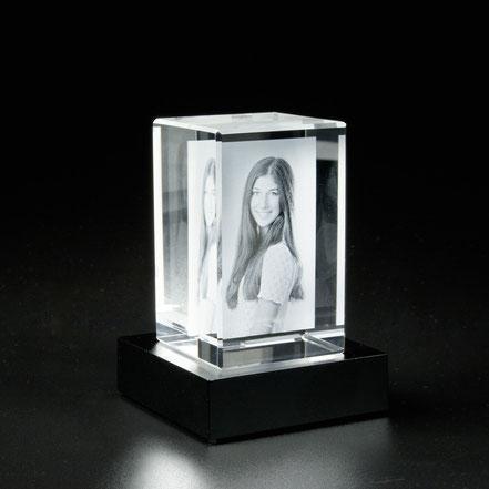 Laserfoto Glasfoto 2D 3D