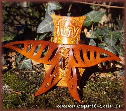 Harnais en cuir Kawaï pour furet personnalisé