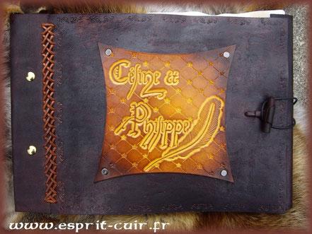"""Grimoire antique """"Céline et Philippe"""""""