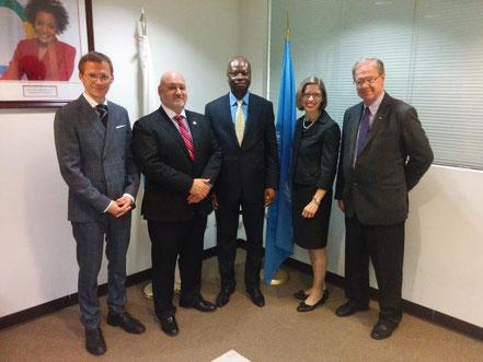 En visite à la Représentation permanente de l'OIF auprès des Nations Unies