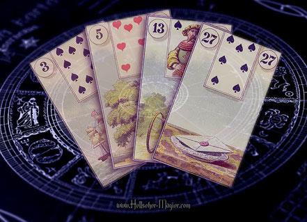 Lenormandkarten. Hier können Kunden mehr erfahren Kartenlegen mit Lenormandkarten gratis.