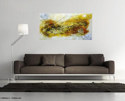 """bereits vergeben"" - Nr. 271 - Floating Painting 50x100x4,5 cm"
