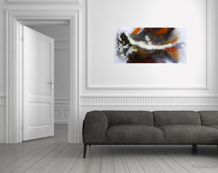 Nr. 266 - Floating Painting  50x100cm